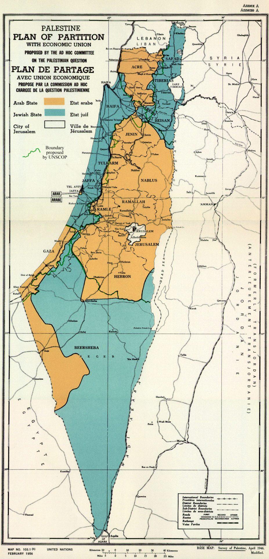 UN Palestine Partition Plan 1947